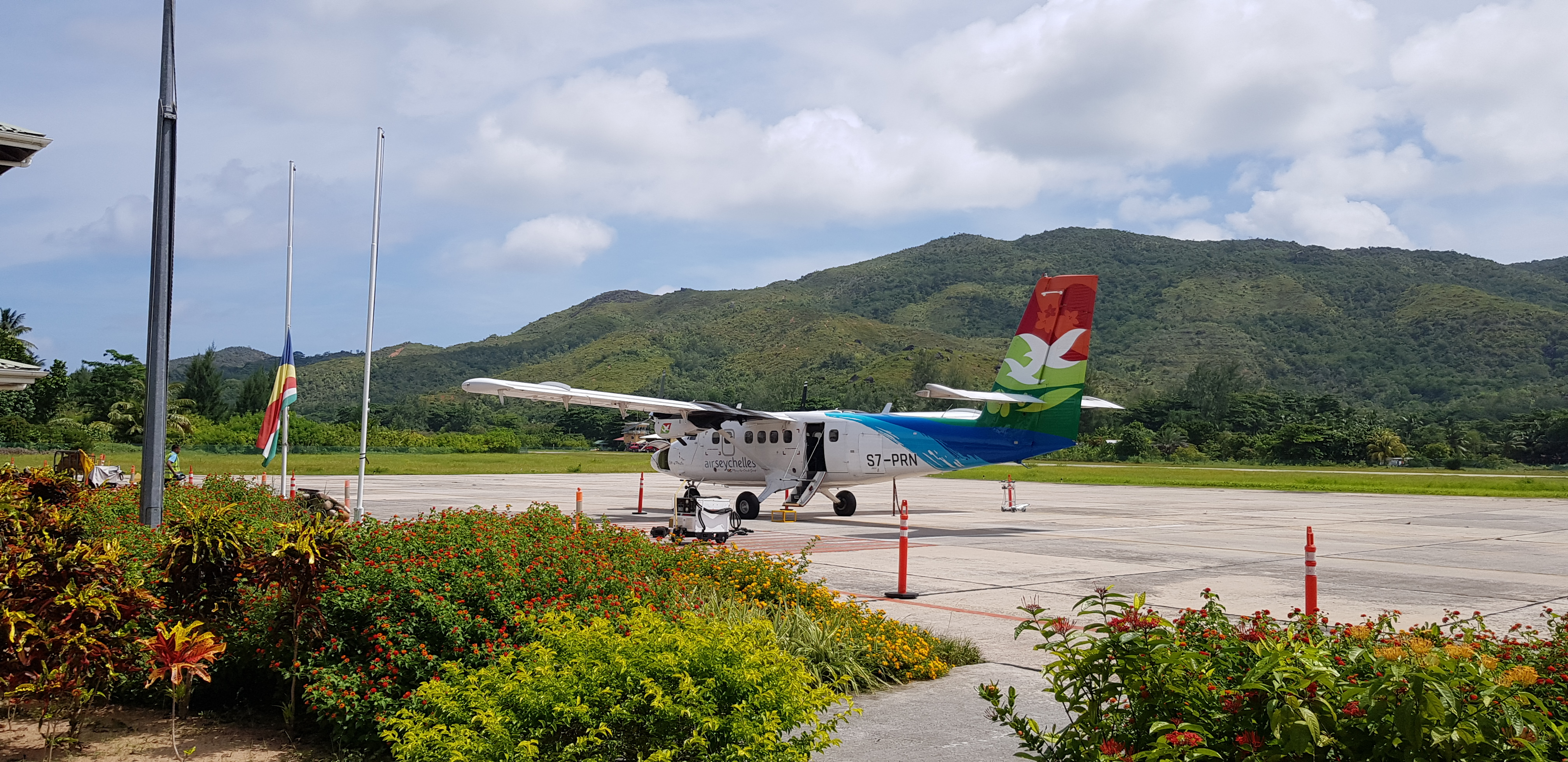 Arrivals at Praslin Airport